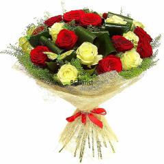 Доставка на луксозен букет от рози в София