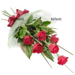 Доставка на класически букет от рози в София