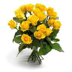 Доставка на букет от жълти рози с куриер в София