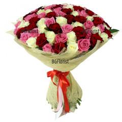 Доставка на букет 101 рози в София и България