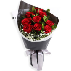 Send bouquet of roses by courier to Sofia