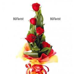 Доставка на букет от пет рози в София