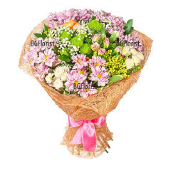 Send bouquet of chrysanthemums to Plovdiv