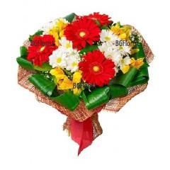 Доставка на модерен букет от цветя в София