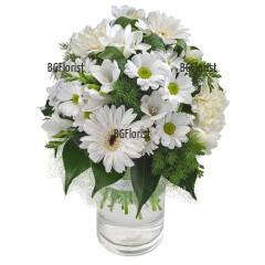 Send Bouquet in white to Sofia