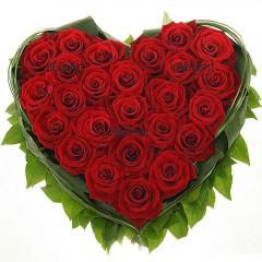 Доставка на сърце от червени рози в София
