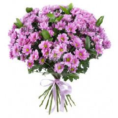 Доставка на Букет от розови хризантеми в София