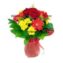 Доставка на Букет от цветя с куриер във Варна