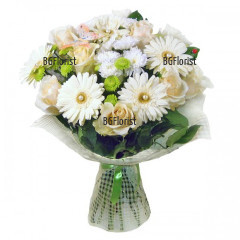 Send bouquet  of white roses to Sofia