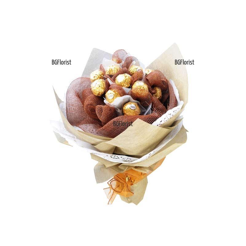 Доставка на Букет от бонбони с куриер в Пловдив
