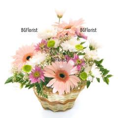 Send basket with autumn flowers to Sofia