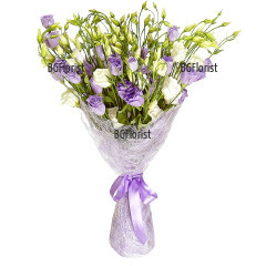 Send bouquet of mixed lisianthus to Sofia