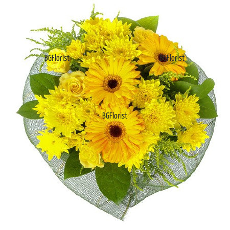 Доставка на букет от жълти цветя в София