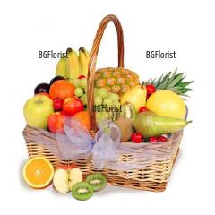 Доставка на кошница с плодове в София с куриер