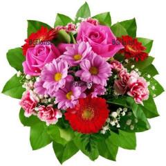Доставка на букет от миксови цветя Палитра