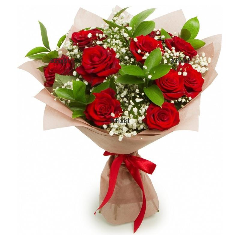 Букет от 11 червени рози Артисто