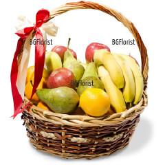 Поръчка на подарък кошница с плодове