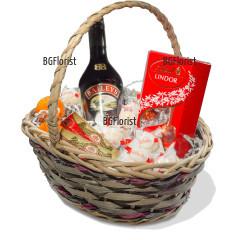 Доставка с куриер на кошница с подаръци за празник