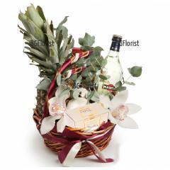 Доставка на кошница с плодове цветя и подаръци