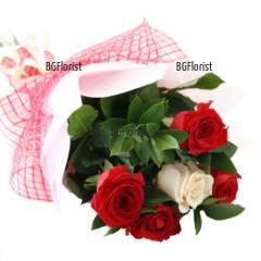 Онлайн поръчка на букет от рози романтична вечер