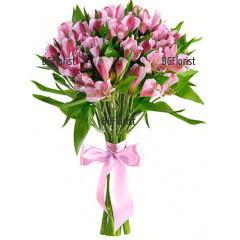Esmeralda - beautiful bouquet of pink alstroemerias