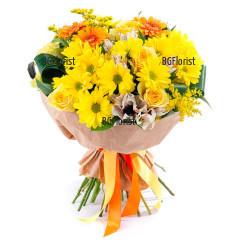 Букет от разнообразни цветя Извор на щастие