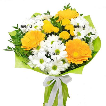 Онлайн поръчка на букет от свежи цветя