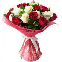 Онлайн поръчка на романтичен букет от рози