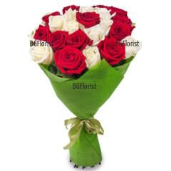 Романтичен букет от рози Елеонор