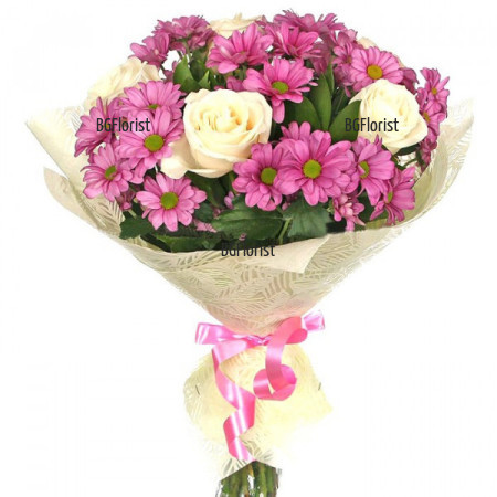 Красив букет от миксови цветя Франция