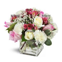 Доставка на красива луксозна композиция от рози
